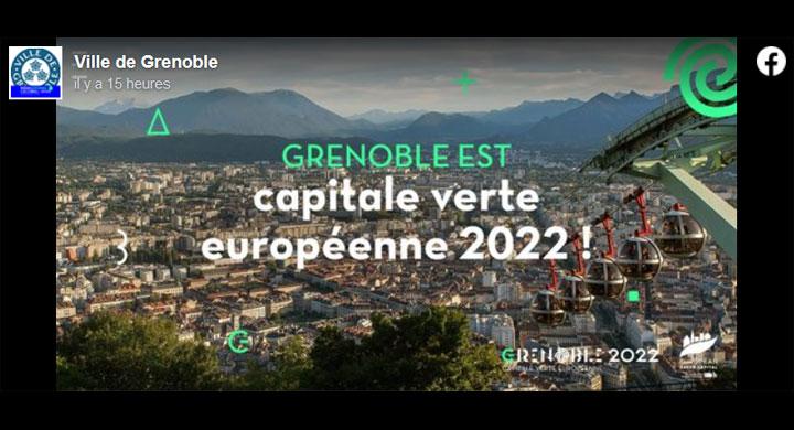 Grenoble, élue Capitale verte européenne 2022