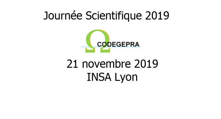 Codegepra - Journée Scientifique 2019