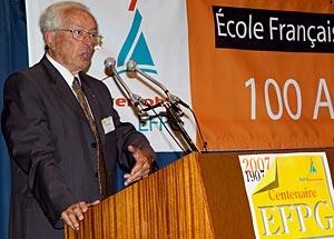 Philippe Traynard lors du Centenaire de l'école en 2007